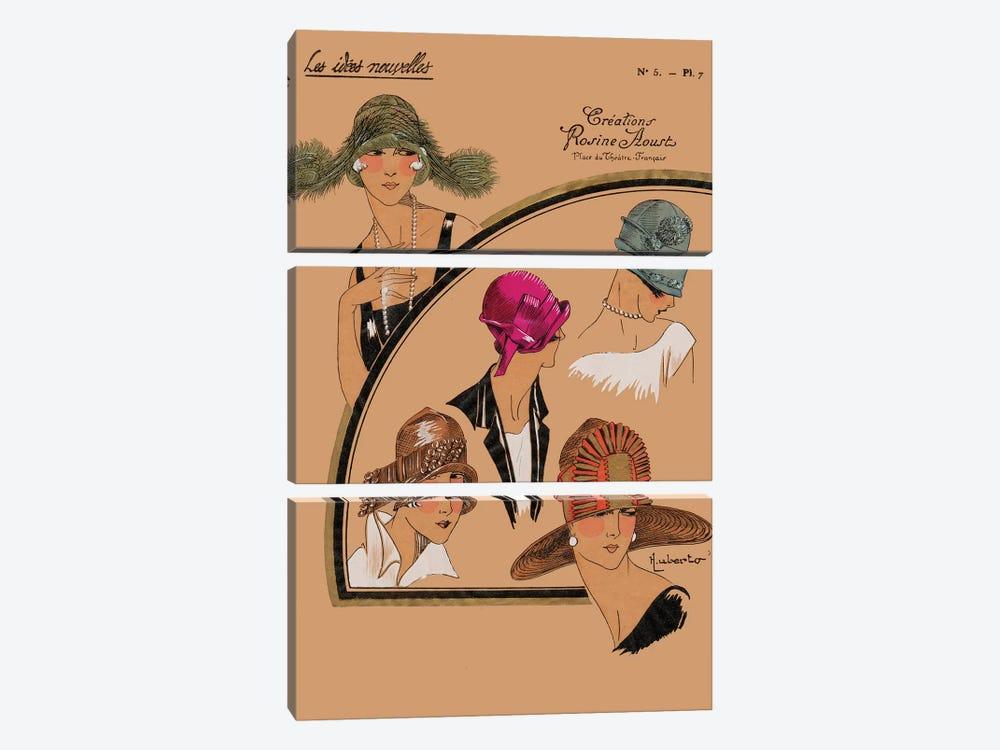 Elegant Chapeau II by World Art Group Portfolio 3-piece Canvas Art Print