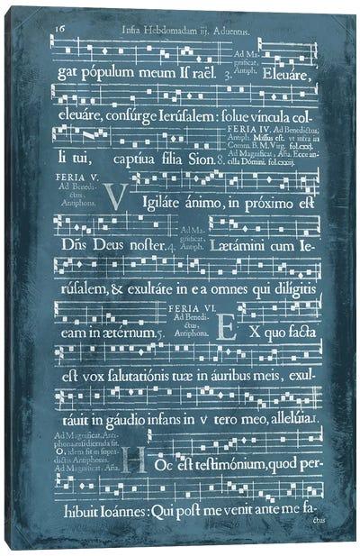 Graphic Songbook I Canvas Art Print