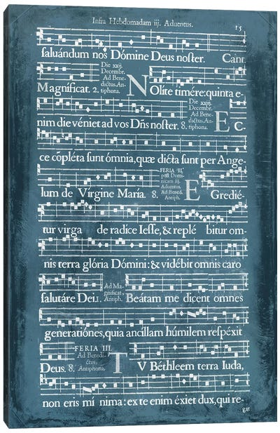 Graphic Songbook II Canvas Art Print