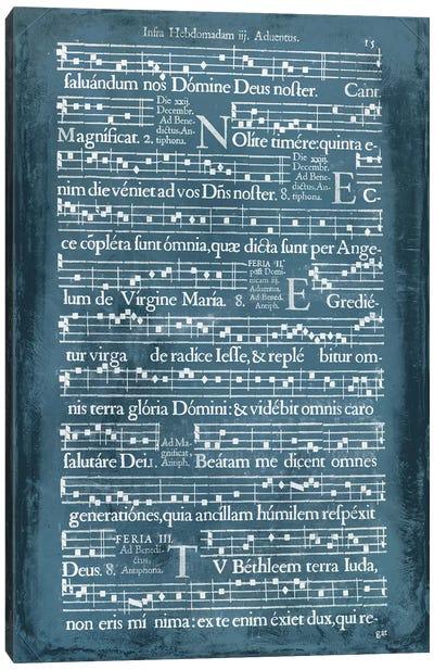 Graphic Songbook II Canvas Art Print
