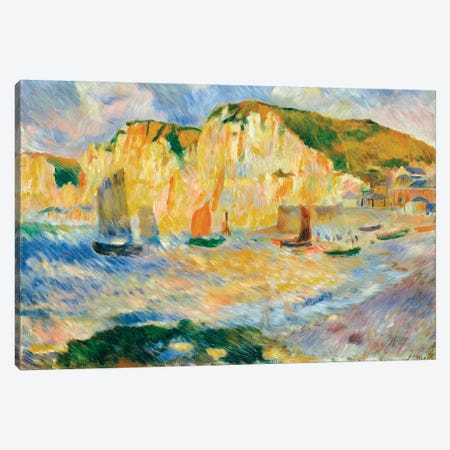 Sea And Cliffs Canvas Print #WAG45} by Pierre-Auguste Renoir Canvas Art