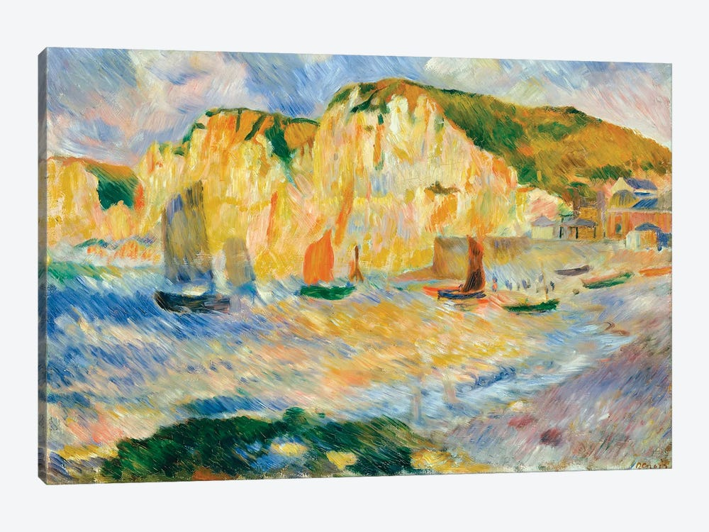 Sea And Cliffs by Pierre-Auguste Renoir 1-piece Canvas Wall Art
