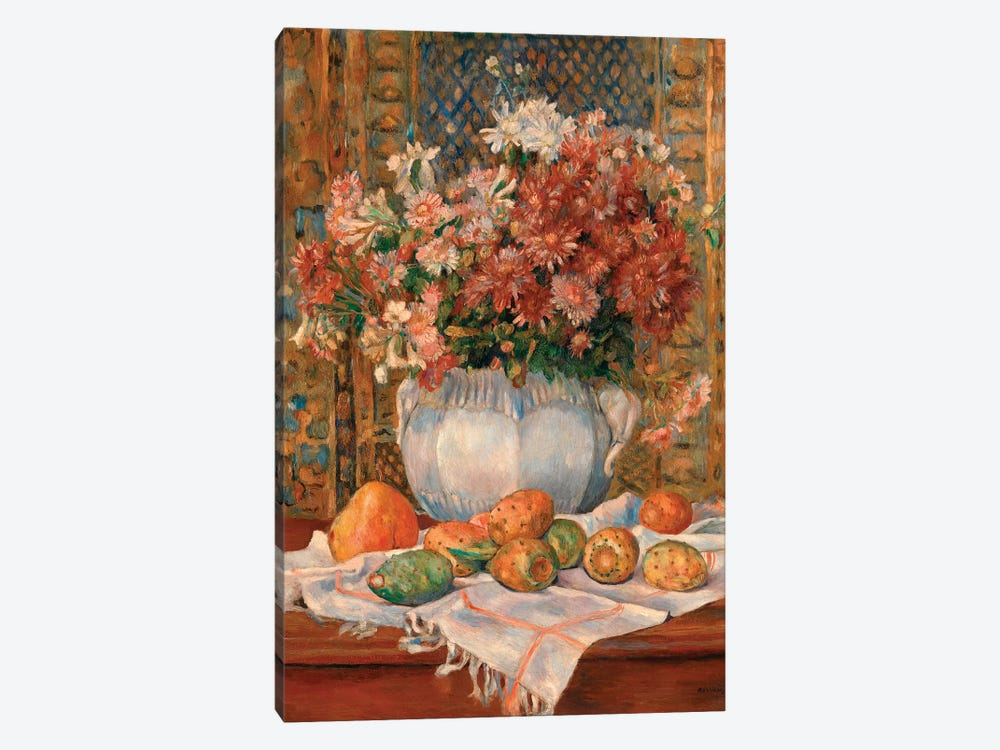 Still Life With Flowers And Prickly Pears by Pierre-Auguste Renoir 1-piece Canvas Print