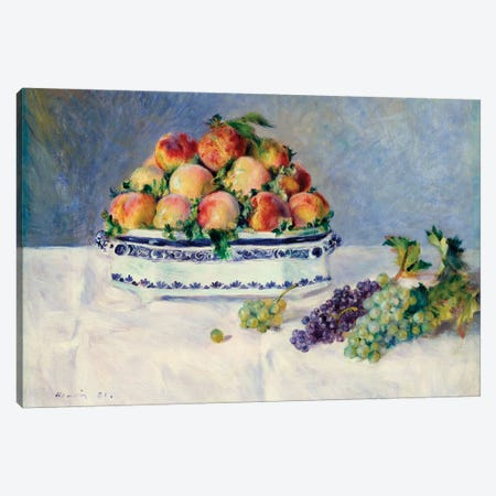 Still Life With Peaches And Grapes Canvas Print #WAG47} by Pierre-Auguste Renoir Canvas Wall Art