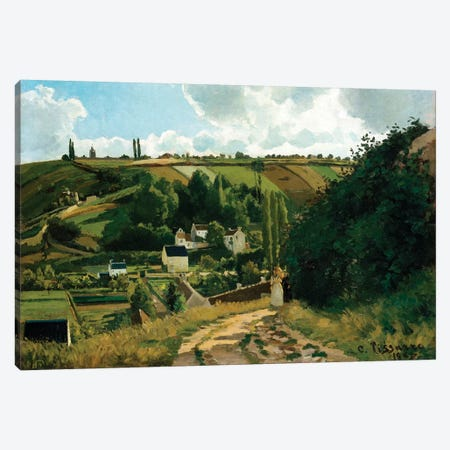 Jalais, Hill, Pontoise Canvas Print #WAG49} by Camille Pissarro Canvas Art Print