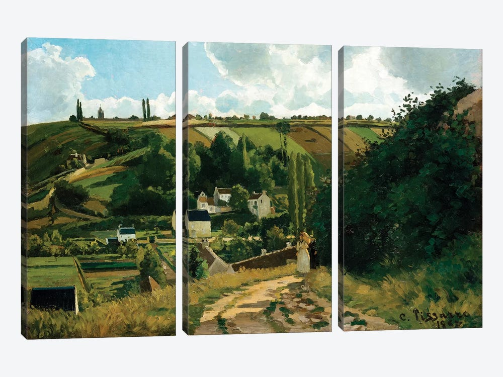 Jalais, Hill, Pontoise by Camille Pissarro 3-piece Canvas Wall Art