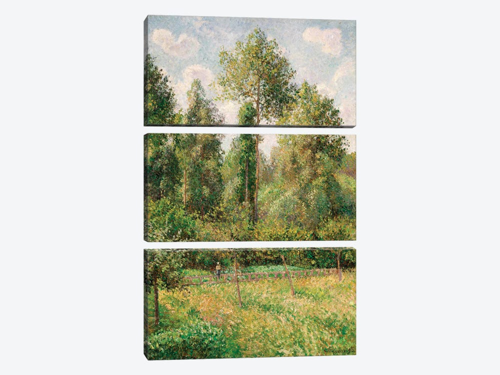 Poplars, Eragny by Camille Pissarro 3-piece Canvas Artwork