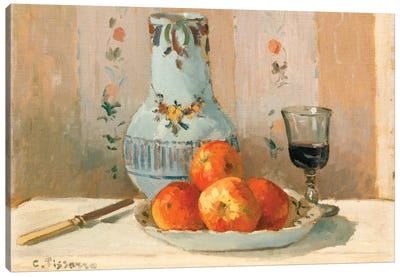Still Life With Apples And Pitcher Canvas Art Print