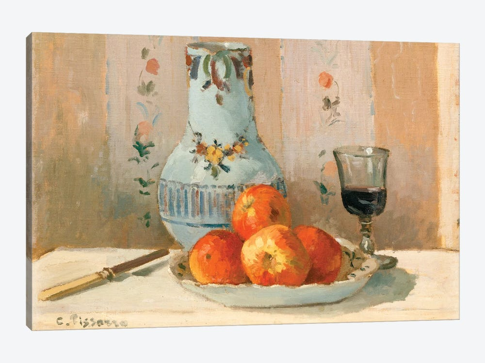 Still Life With Apples And Pitcher by Camille Pissarro 1-piece Art Print