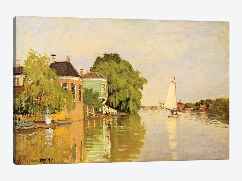 Houses On The Achterzaan by Claude Monet 1-piece Canvas Art Print