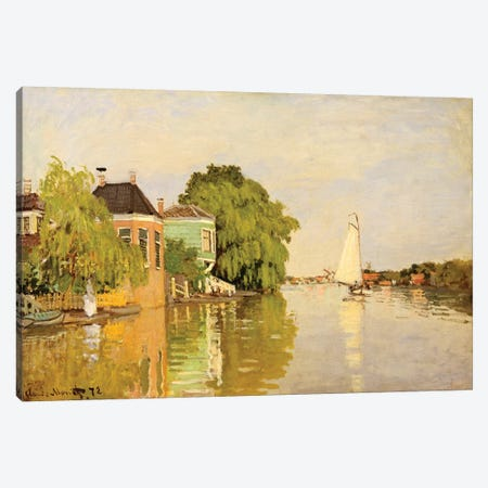 Houses On The Achterzaan Canvas Print #WAG53} by Claude Monet Canvas Wall Art