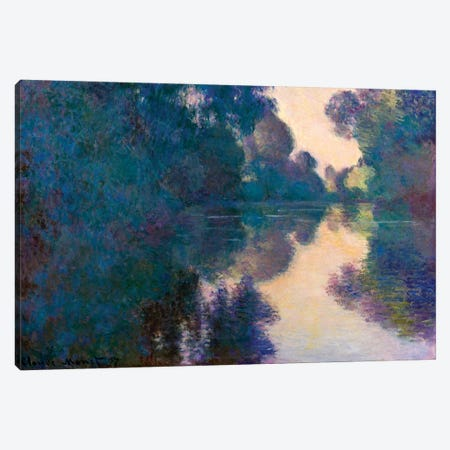 Morning On The Seine Near Giverny Canvas Print #WAG56} by Claude Monet Canvas Art Print