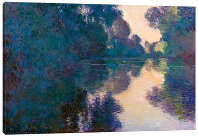 Morning On The Seine Near Giverny Canvas Art Print