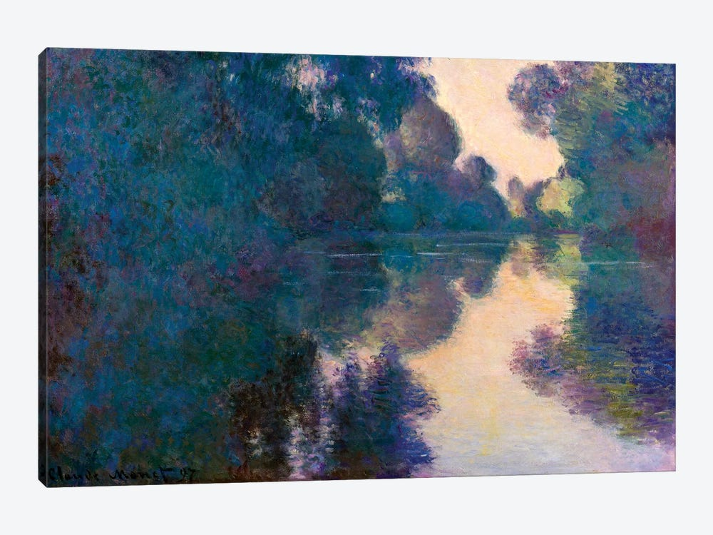 Morning On The Seine Near Giverny by Claude Monet 1-piece Canvas Art