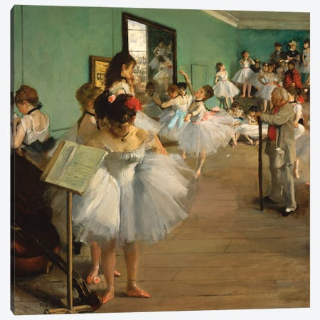 The Dance Class, 1874 Canvas Print #WAG64} by Edgar Degas Canvas Wall Art