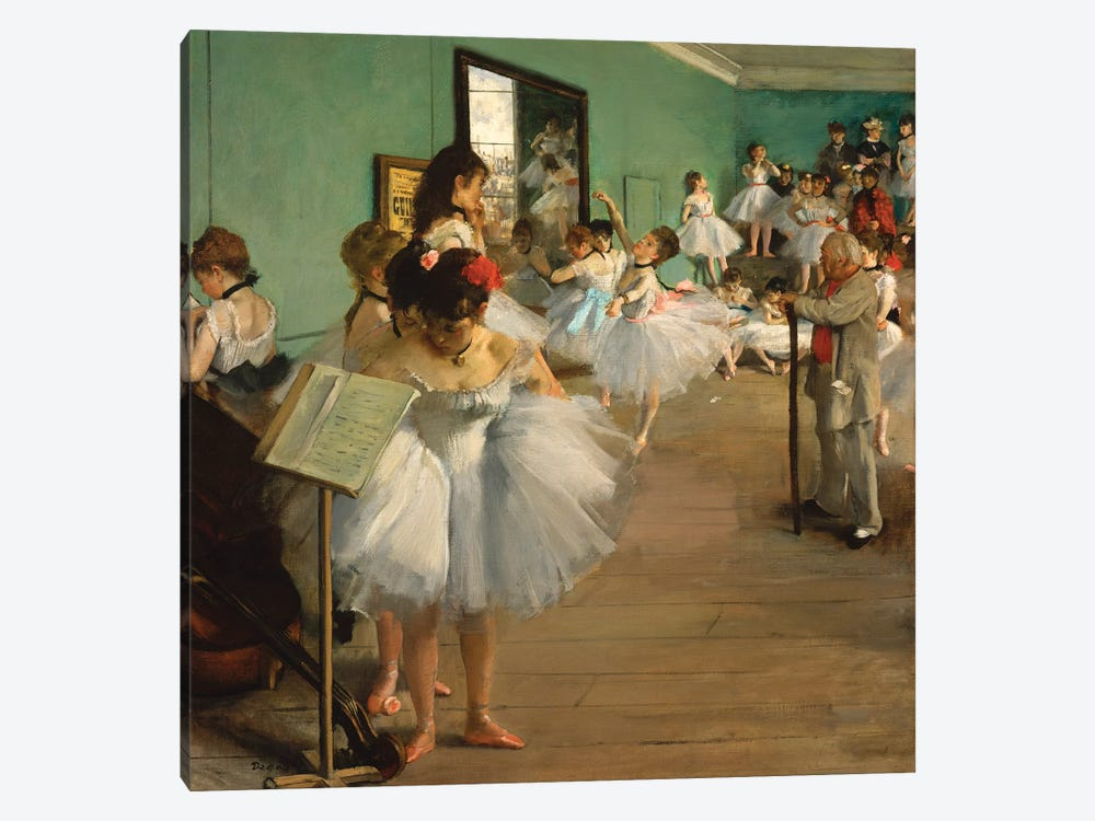 The Dance Class, 1874 by Edgar Degas 1-piece Canvas Print