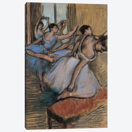 The Dancers Canvas Print #WAG65} by Edgar Degas Canvas Art