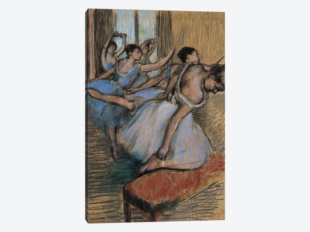 The Dancers by Edgar Degas 1-piece Canvas Wall Art