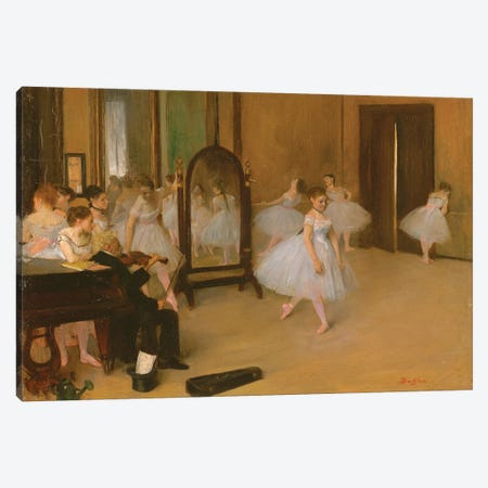 The Dance Class, 1871 Canvas Print #WAG66} by Edgar Degas Canvas Wall Art
