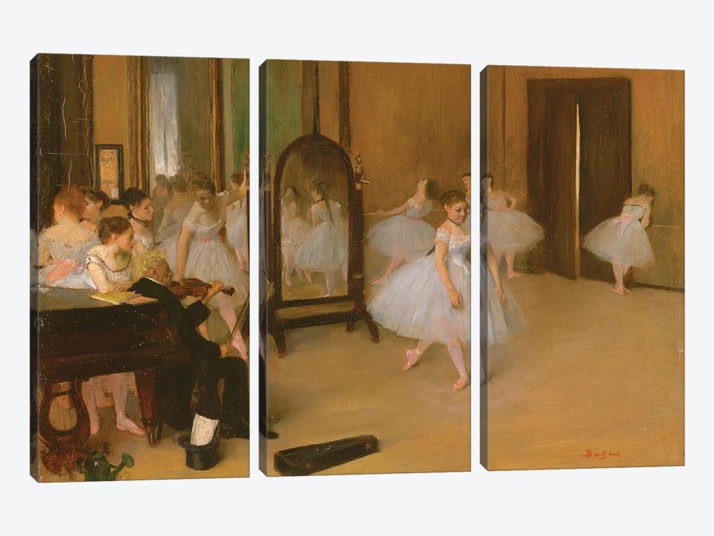 The Dance Class, 1871 by Edgar Degas 3-piece Art Print