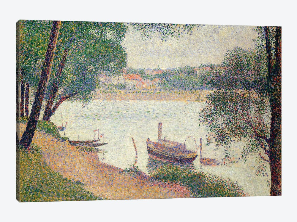 Gray Weather, Grande Jatte by Georges Seurat 1-piece Canvas Art