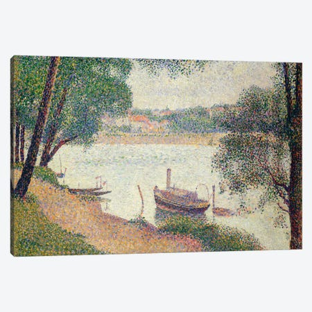 Gray Weather, Grande Jatte Canvas Print #WAG69} by Georges Seurat Canvas Print
