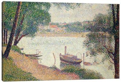 Gray Weather, Grande Jatte Canvas Art Print