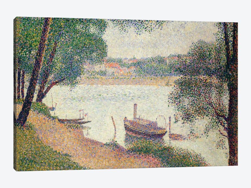 Gray Weather, Grande Jatte by Georges Seurat 1-piece Canvas Art