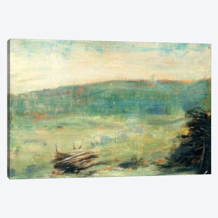 Landscape At Saint-Ouen Canvas Print #WAG70} by Georges Seurat Canvas Artwork