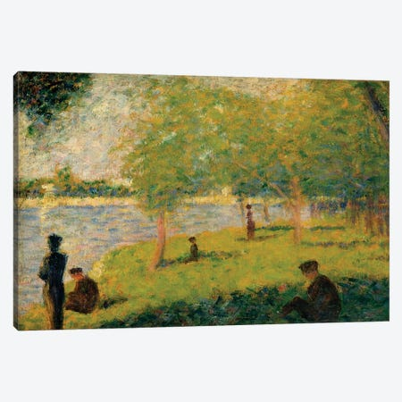 Study For A Sunday On La Grande Jatte Canvas Print #WAG71} by Georges Seurat Canvas Wall Art