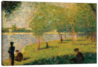 Study For A Sunday On La Grande Jatte Canvas Art Print
