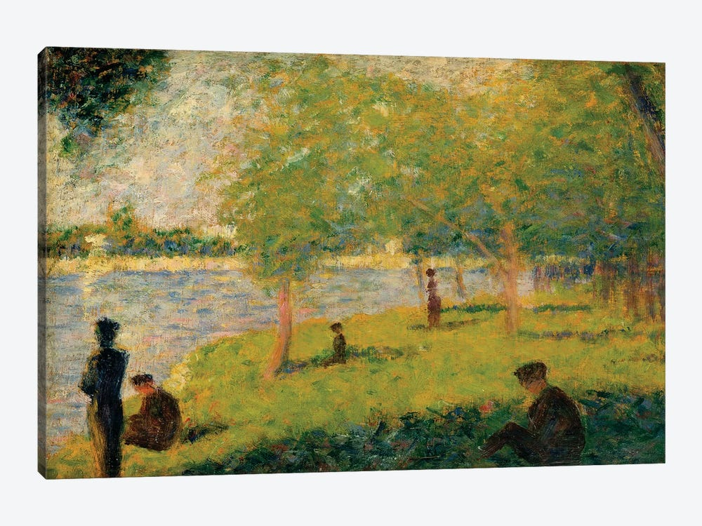 Study For A Sunday On La Grande Jatte by Georges Seurat 1-piece Canvas Art Print