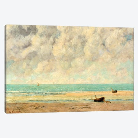 The Calm Sea Canvas Print #WAG72} by Gustave Courbet Canvas Art