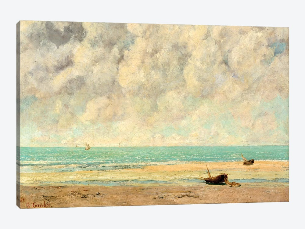 The Calm Sea by Gustave Courbet 1-piece Canvas Wall Art