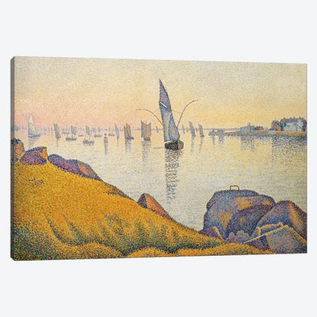 Evening Calm, Concarneau, Opus 220 Canvas Print #WAG79} by Paul Signac Canvas Artwork