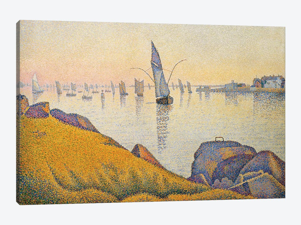 Evening Calm, Concarneau, Opus 220 by Paul Signac 1-piece Canvas Art Print