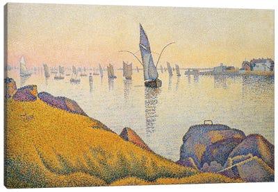 Evening Calm, Concarneau, Opus 220 Canvas Art Print