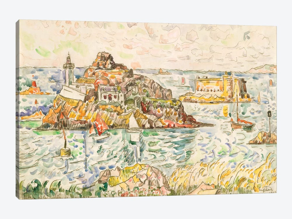 Morlaix, Entrance Of The River by Paul Signac 1-piece Canvas Art Print
