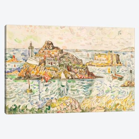 Morlaix, Entrance Of The River Canvas Print #WAG82} by Paul Signac Canvas Art Print