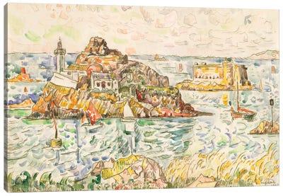 Morlaix, Entrance Of The River Canvas Art Print