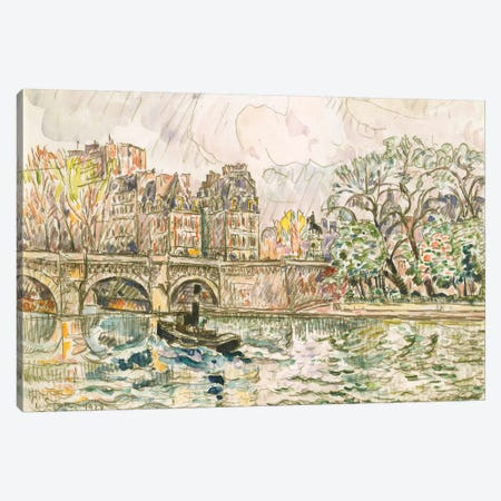 Paris le Place Dauphine Canvas Print #WAG83} by Paul Signac Art Print