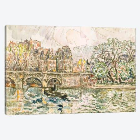 Paris le Place Dauphine Canvas Print #WAG83} by Paul Signac Art Print