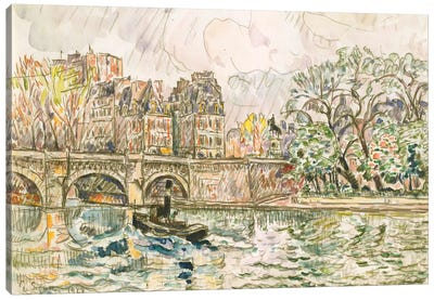 Paris le Place Dauphine Canvas Art Print
