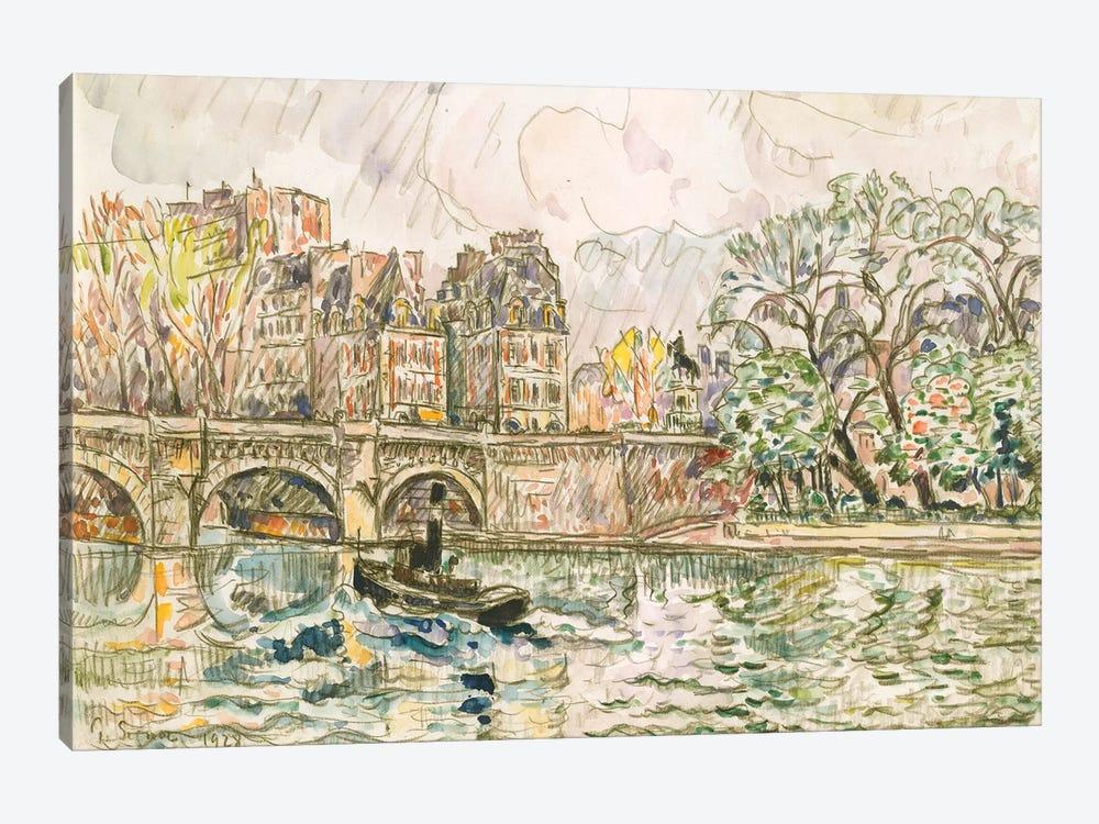 Paris le Place Dauphine by Paul Signac 1-piece Canvas Artwork