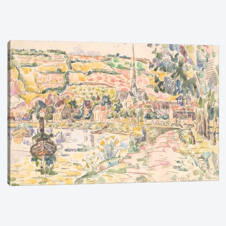 Petit Andely-The River Bank Canvas Print #WAG84} by Paul Signac Canvas Art