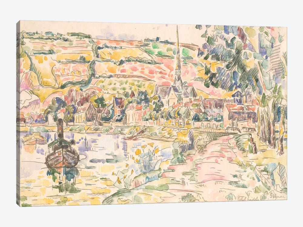 Petit Andely-The River Bank by Paul Signac 1-piece Art Print