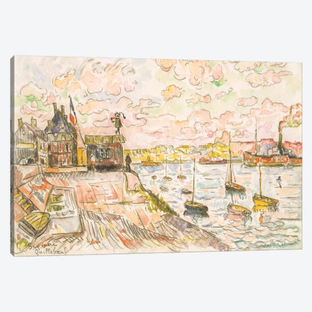 Quilleboeuf Canvas Print #WAG85} by Paul Signac Canvas Artwork