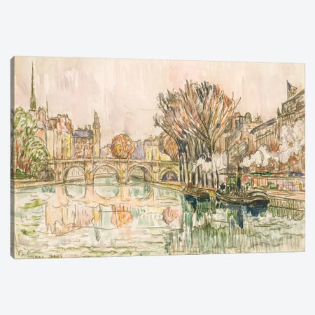 The Pont Neuf, Paris Canvas Print #WAG86} by Paul Signac Canvas Art