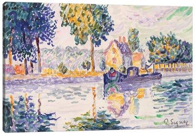 View Of The Seine, Samois Canvas Art Print