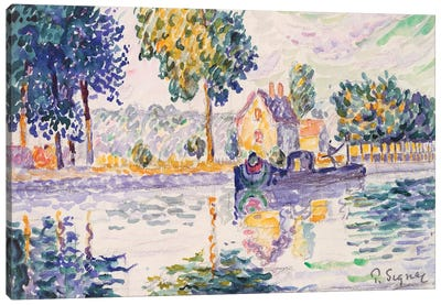 View Of The Seine, Samois Canvas Art Print